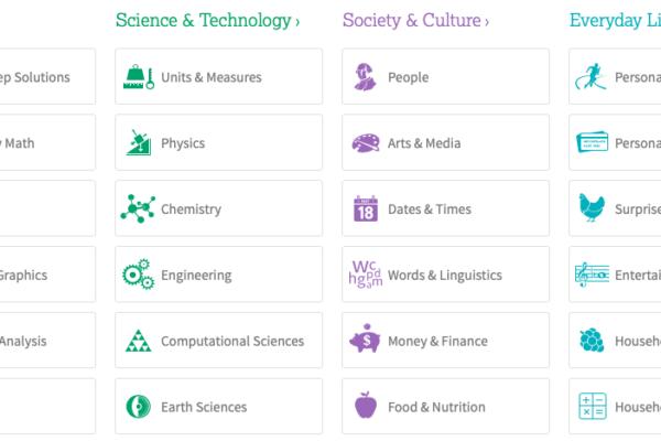 WolframAplha a jeho využití ve vzdělávání